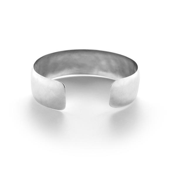 Sterling Silver Matte Hammered Narrow Cuff Bracelet