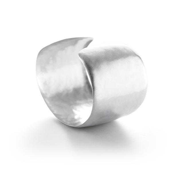 Sterling Silver Matte Hammered Cuff Bracelet