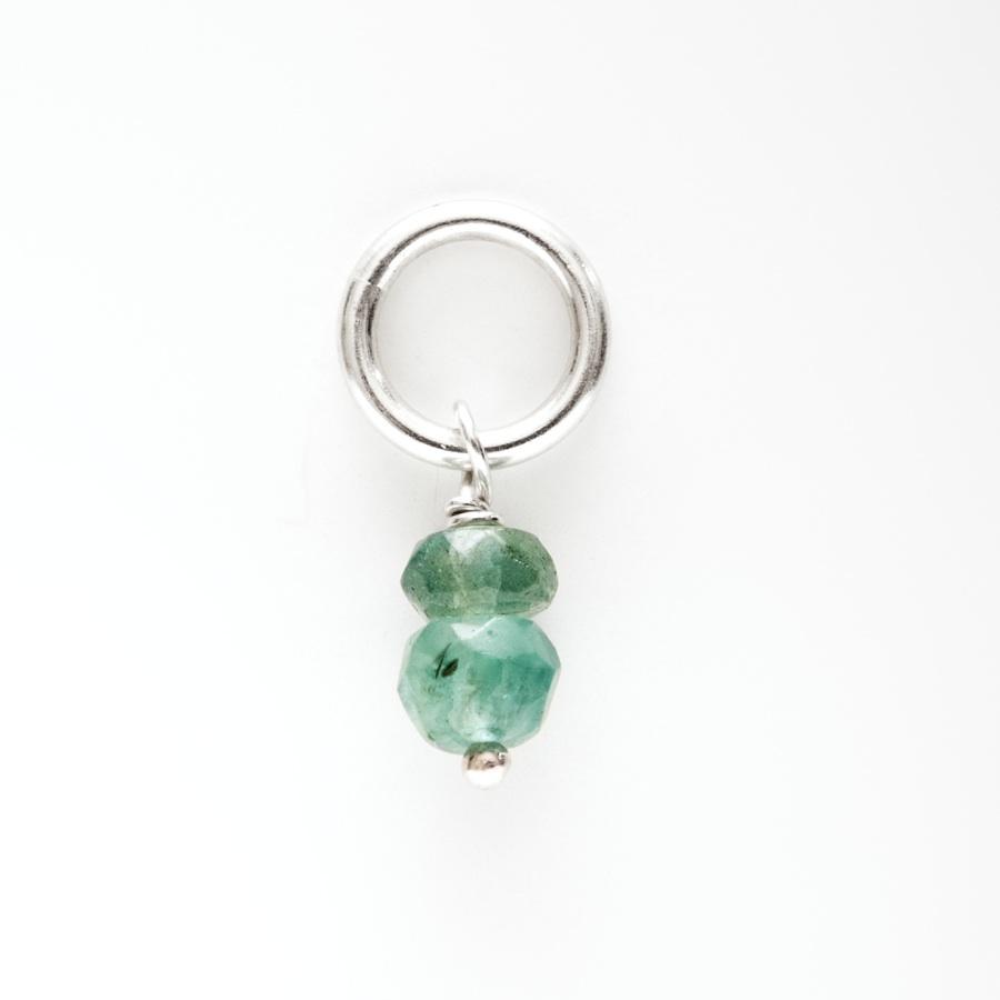 May Birthstone Charm Emerald