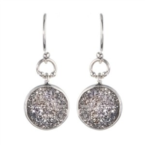 Handmade Jewelry Druzy Round Shaped Earrings