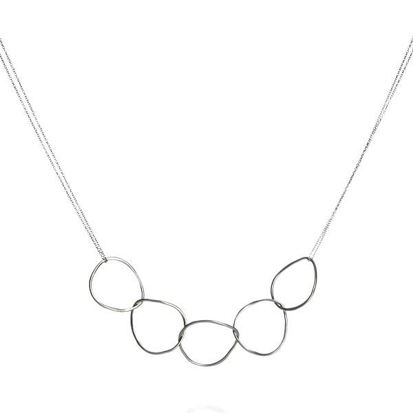 Five Fine Interlocking Loops Necklace