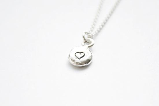 Pebble Heart Necklace