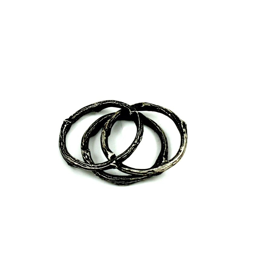 Black Twig Stack Ring
