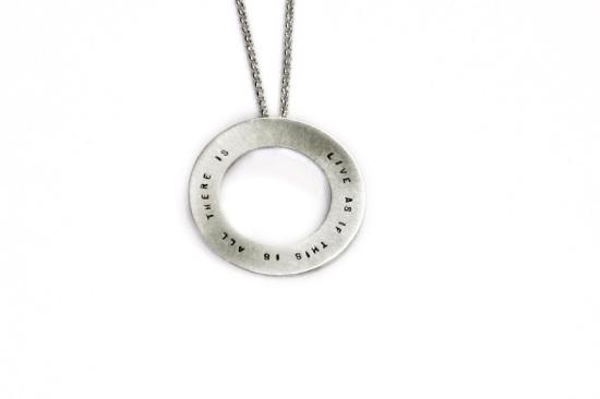 Silver Halo Necklace