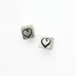 Heart Cube Post Earrings