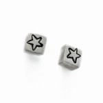 star cube post earrings