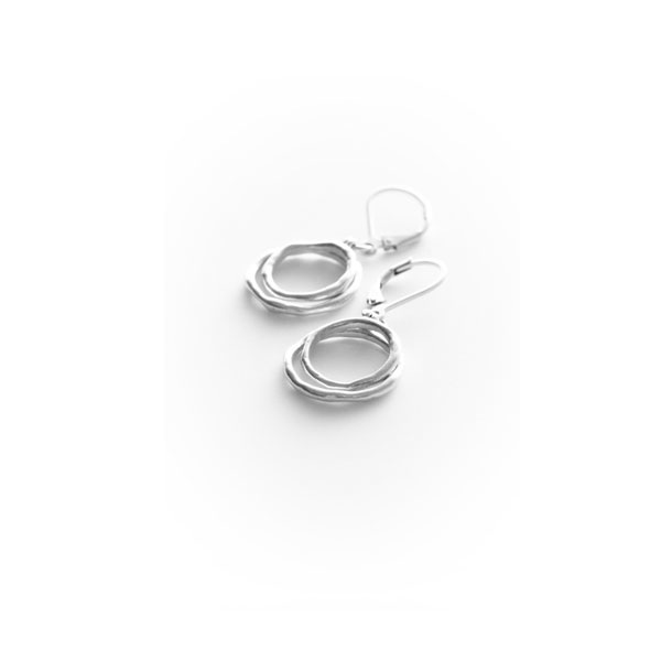 Sterling Double Ring Earrings