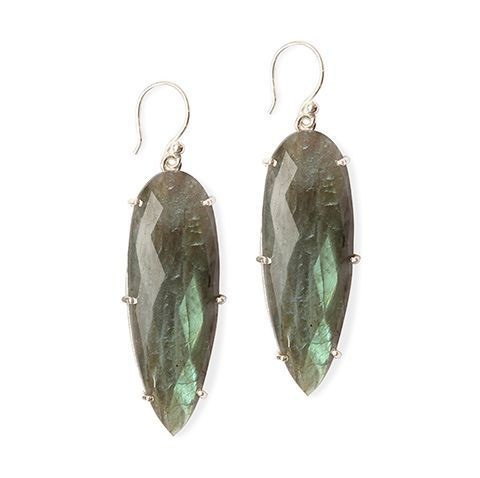 Labradorite Prism Earrings