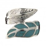Turquoise-Leaf-Ring