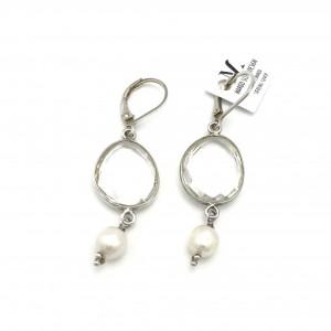 Rock-crystal-Pearl-earrings