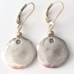 Rustic-pebble-gold-earrings