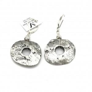 Rustic-textured-loop-earrings
