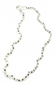 Organic-Hematite-Single-Strand-Necklace