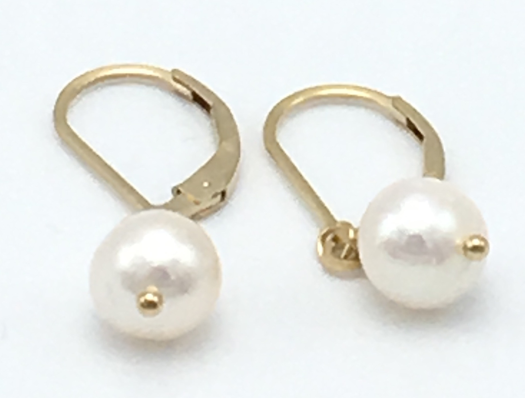 earrings white pearl ball amrita drop jewelry erc product shop peral tier singh