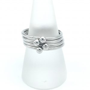 Four-Bead-Fidget-Ring