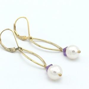 Gold-Marquis-Pearl-amethyst-earrings