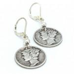 Liberty-dime-earrings