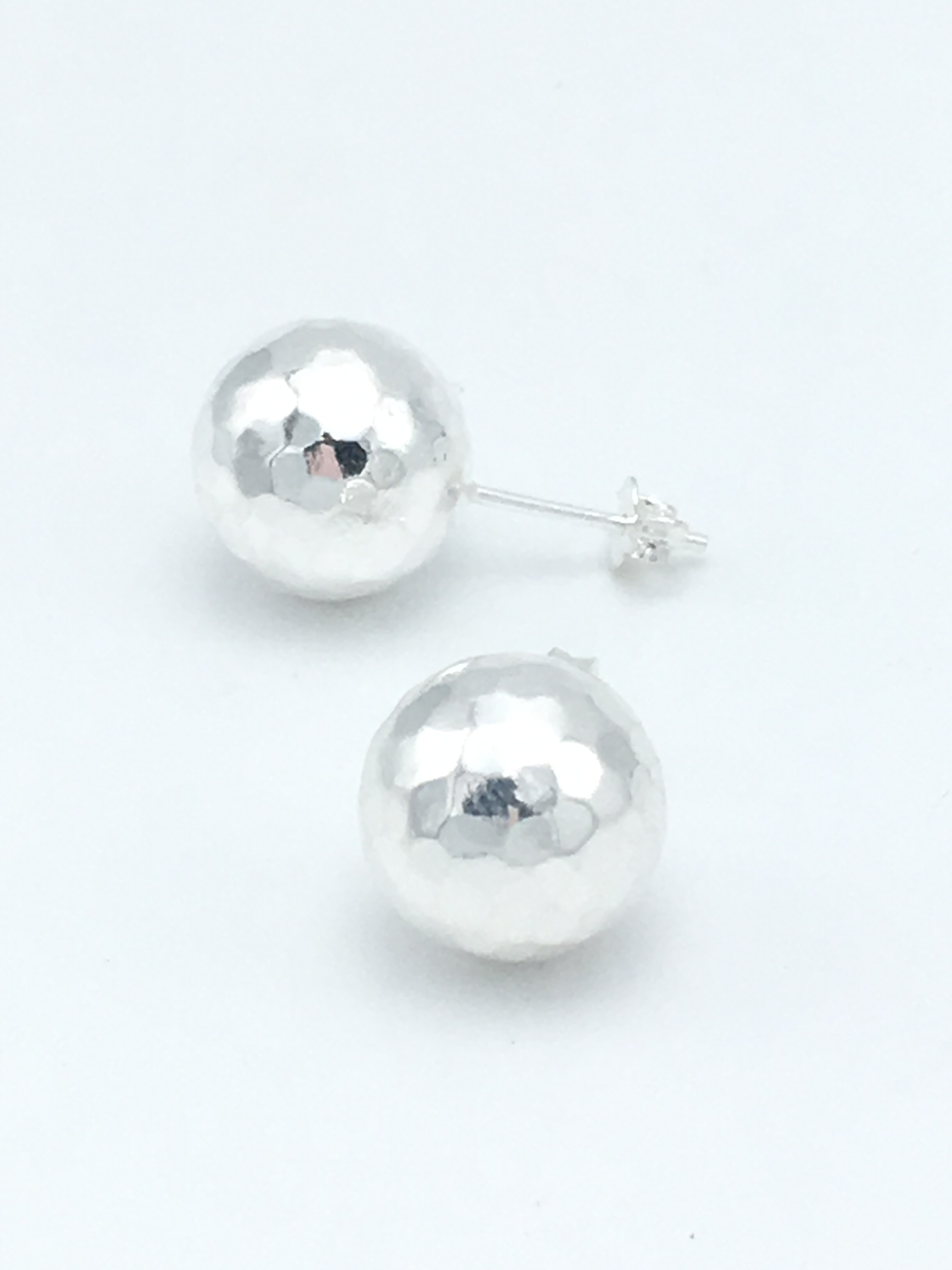 b89be06ac ... Silver Art Textured Ball Studs -8mm. Click for a larger view