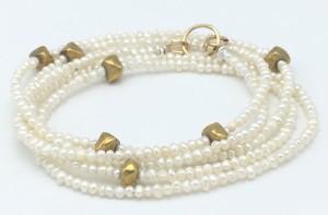 Pearl-brass-bracelet