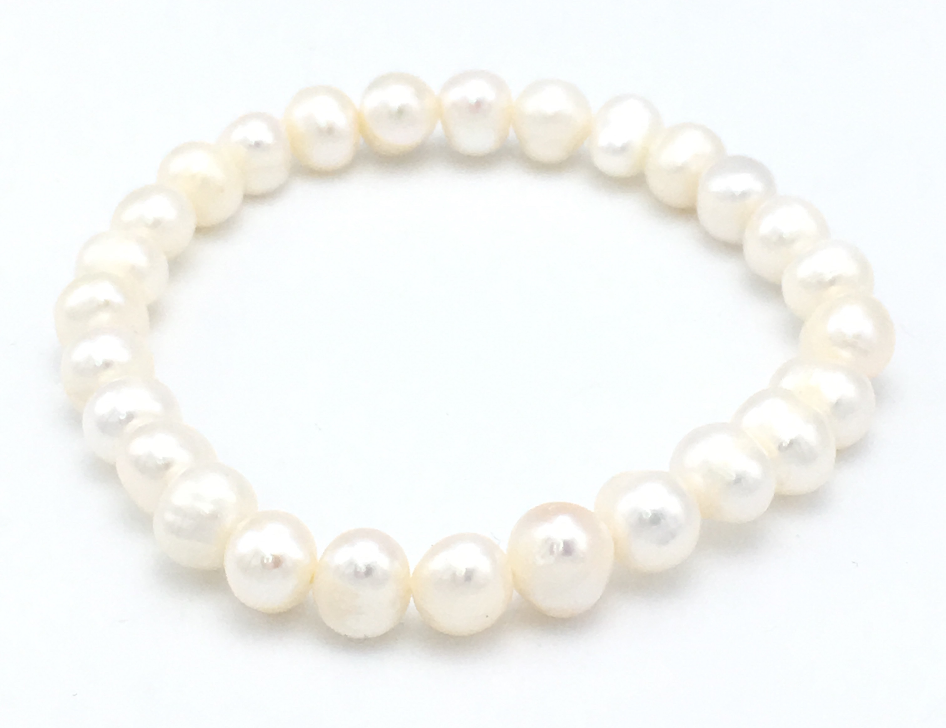 Pearl Stretch Bracelet White