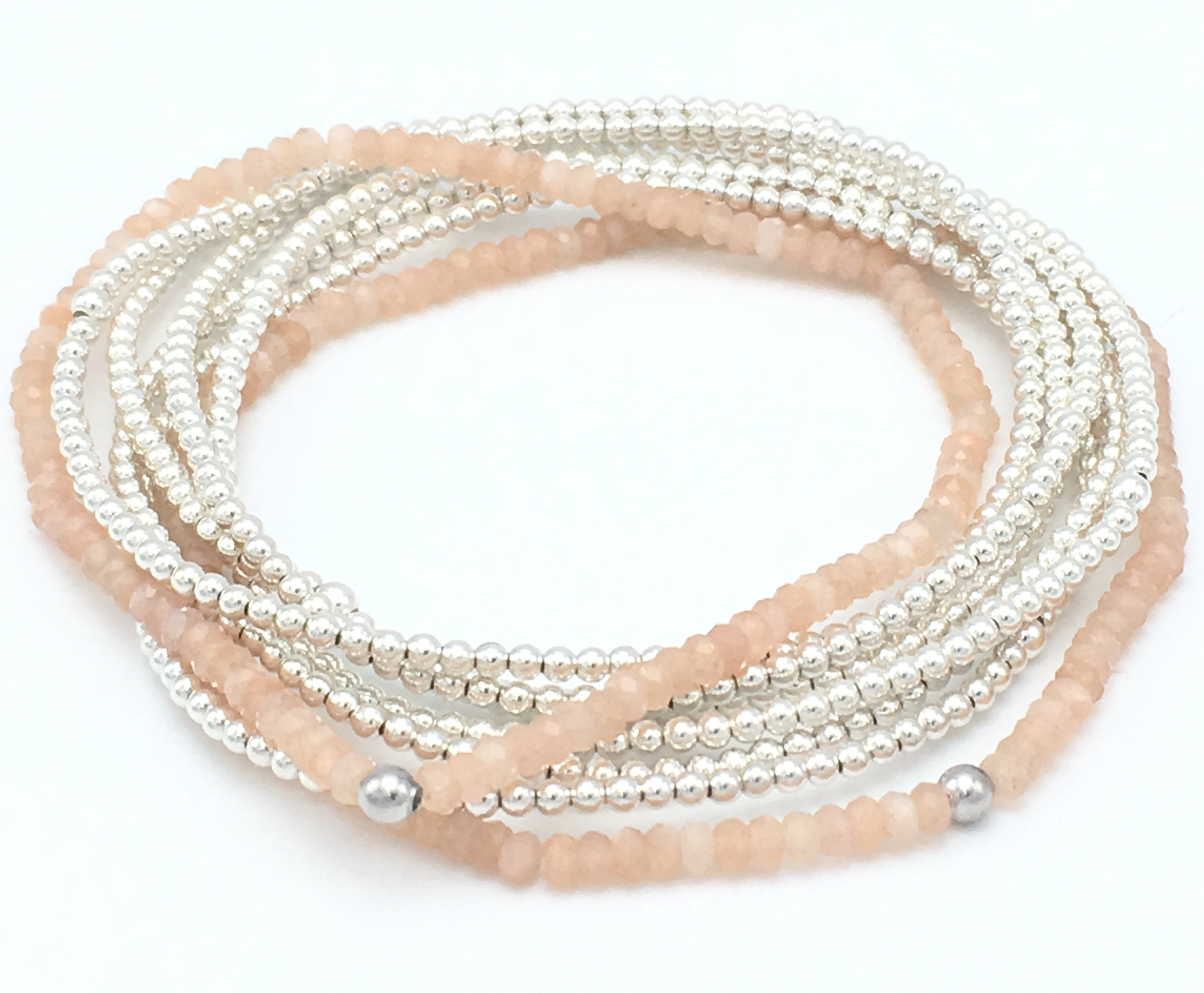 stack stretch product pink moonstone bracelet