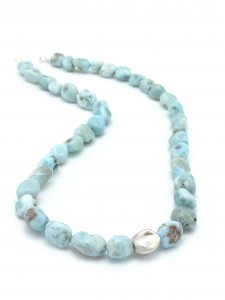 Rustic-Larimar-Pebbles-Necklace