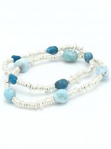 Larimar-Apatite-layered-bracelets