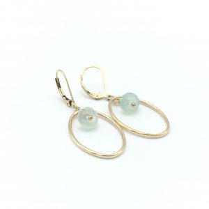 Chalcedony-gold-earrings