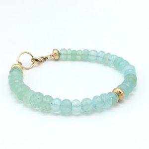 aqua-chalcedony-gold-dot-bracelet