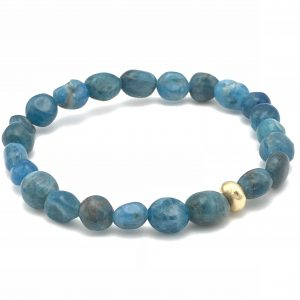 Apatite-Gold-Stretch-bracelet