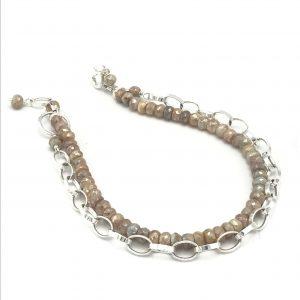 Pink-silverite-chain-bracelet