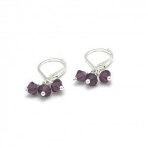 Plum-crystal-cluster-earrings