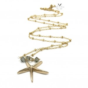 Starfish-Labradorite-gold-chain