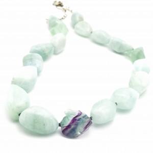 Aquamarine-fluorite-necklace
