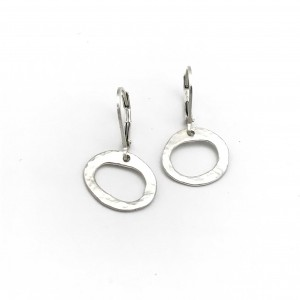 Hammered-oval-earrings
