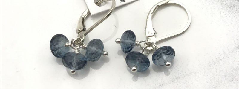 Kyanite-cluster-earrings