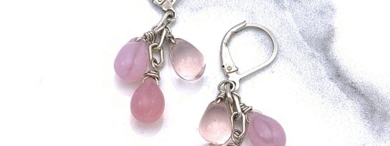pink-cluster-earrings