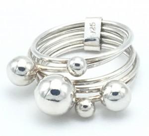 Five-Bead-Fidget-ring
