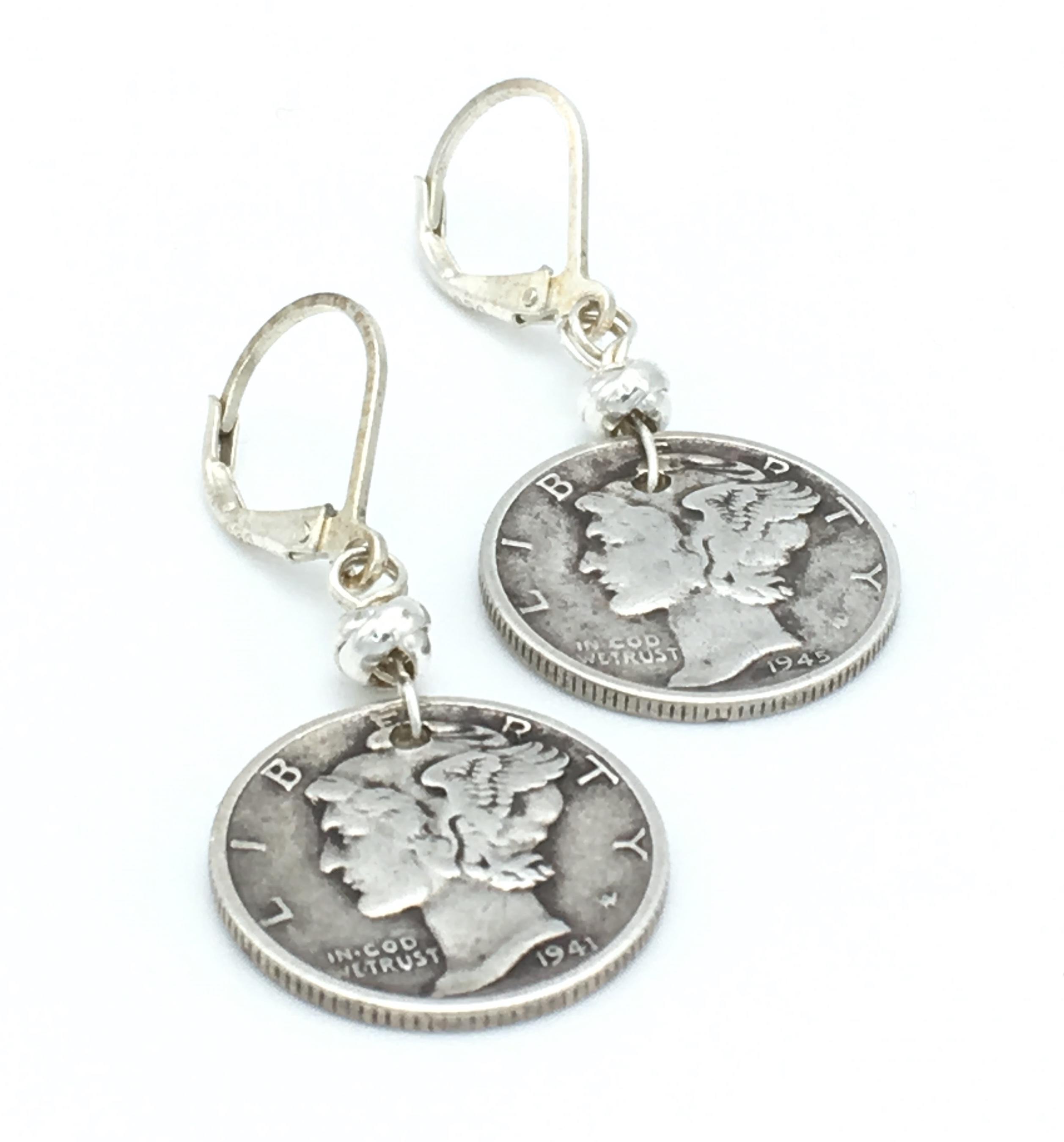 Bijoux Vintage Online : Vintage liberty dime earrings bija bijoux