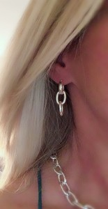 Triple-chain-earrings