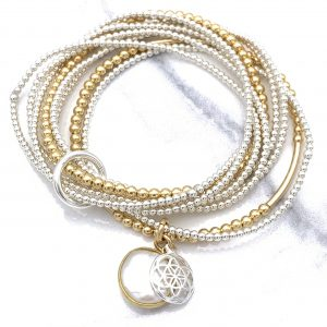 Layered with Cinched Bracelet - Gold